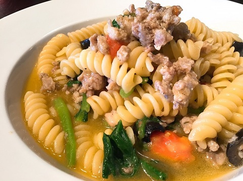 1月14日 自家製サルシッチャと小松菜のショートパスタ