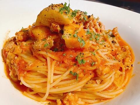 9月16日 サルシッチャと秋ナスのトマトソース