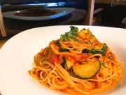 9月30日 真鯛とズッキーニのトマトソースパスタ